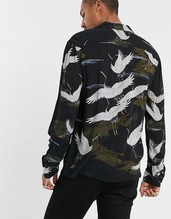 Street Style Long Sleeves Other Animal Patterns Shirts