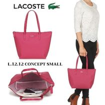 LACOSTE Casual Style Blended Fabrics A4 Plain Office Style Totes