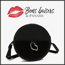 Bons baisers de Paname Casual Style Plain Leather Elegant Style Shoulder Bags