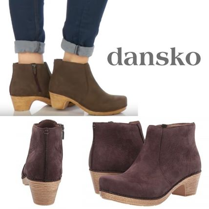 Rubber Sole Casual Style Plain Ankle & Booties Boots