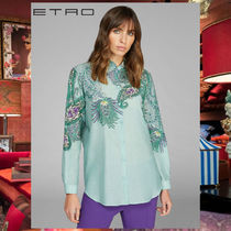ETRO Paisley Silk Long Sleeves Cotton Shirts & Blouses