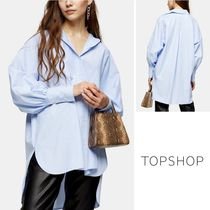 TOPSHOP Stripes Casual Style Long Sleeves Cotton Medium Office Style