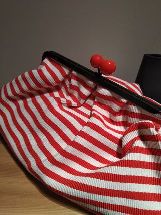 Stripes Casual Style Shoulder Bags