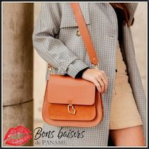 Bons baisers de Paname Casual Style 2WAY Plain Leather Elegant Style Handbags