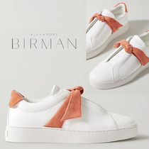 Alexandre Birman Casual Style Suede Plain Leather Low-Top Sneakers
