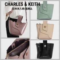 Charles&Keith Faux Fur 2WAY Leather Party Style Elegant Style