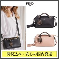 FENDI BY THE WAY Monogram Casual Style Calfskin 2WAY Plain Party Style