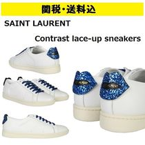 Saint Laurent Glitter Low-Top Sneakers