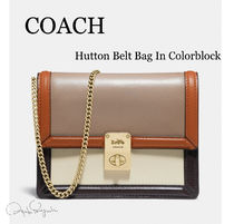 Coach Casual Style 2WAY Plain Leather Hip Packs