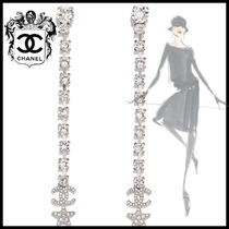 CHANEL Star Party Style Silver Elegant Style Earrings
