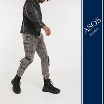 ASOS Tapered Pants Blended Fabrics Street Style Cotton