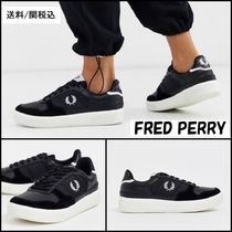 FRED PERRY Lace-up Casual Style Plain Leather Low-Top Sneakers