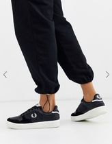 FRED PERRY Lace-up Casual Style Plain Leather Logo Low-Top Sneakers