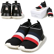 MONCLER Stripes Casual Style Street Style Leather Shearling