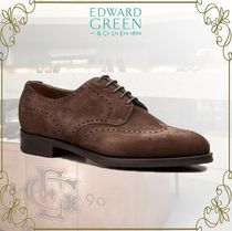 Edward Green Wing Tip Suede Plain Oxfords
