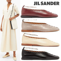 Jil Sander Plain Leather Flats