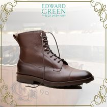 Edward Green Straight Tip Plain Leather Boots