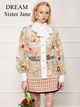 Sister Jane Flower Patterns Long Sleeves With Jewels Shirts & Blouses