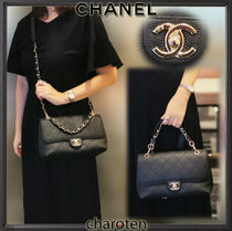 CHANEL MATELASSE Casual Style Unisex Calfskin 3WAY Chain Plain Leather