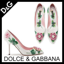 Dolce & Gabbana Flower Patterns Pin Heels With Jewels