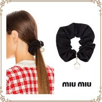 MiuMiu Scrunchy Casual Style Party Style Elegant Style Elastics