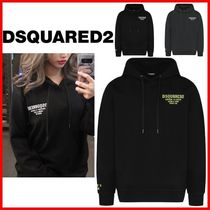 D SQUARED2 Unisex Street Style Long Sleeves Cotton Logo