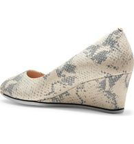 Cole Haan Plain Toe Leather Office Style Python Wedge Pumps & Mules