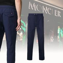 MONCLER Tapered Pants Street Style Plain Cotton Tapered Pants
