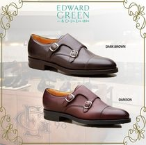 Edward Green Straight Tip Monk Plain Leather Loafers & Slip-ons