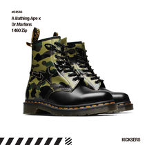 A BATHING APE Camouflage Unisex Street Style Collaboration Boots