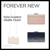 FOREVER NEW Studded 2WAY Plain Party Style With Jewels Clutches