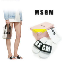 MSGM Open Toe Platform Casual Style Street Style Shower Shoes