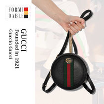 GUCCI Ophidia Stripes Casual Style Street Style Leather Party Style