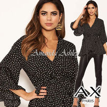 AXPARIS Party Style Elegant Style Puff Sleeves Shirts & Blouses
