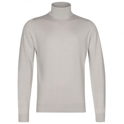 Pullovers Unisex Wool Plain Sweaters