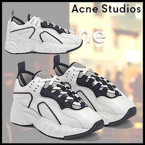 Acne Casual Style Blended Fabrics Street Style Plain Leather
