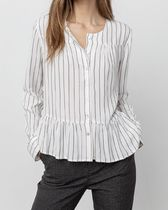 Ron Herman Stripes Casual Style Blended Fabrics Long Sleeves Plain