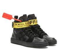 Off-White Round Toe Rubber Sole Lace-up Casual Style Plain Leather
