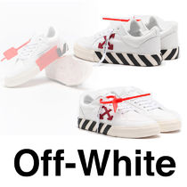 Off-White Rubber Sole Casual Style Low-Top Sneakers