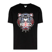 KENZO Crew Neck Cotton Short Sleeves Logo Designers