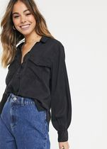 Abercrombie & Fitch Long Sleeves Plain Puff Sleeves Shirts & Blouses