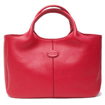 TOD'S 2WAY Plain Leather Elegant Style Totes