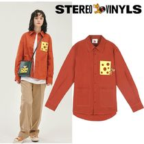 STEREO VINYLS COLLECTION Street Style Collaboration Long Sleeves Shirts & Blouses