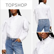 TOPSHOP Casual Style Long Sleeves Plain Cotton Medium Office Style