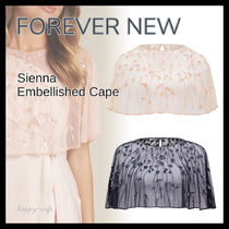 FOREVER NEW Short Plain Lace With Jewels Shawls