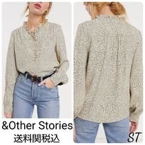 & Other Stories Dots Long Sleeves Shirts & Blouses