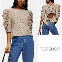 TOPSHOP Other Check Patterns Casual Style Cropped Medium Party Style