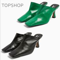 TOPSHOP Square Toe Casual Style Leather Party Style Office Style