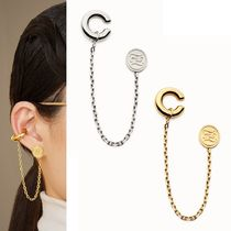 FENDI Street Style Chain Elegant Style Earrings