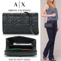 A/X Armani Exchange Monogram Casual Style Blended Fabrics 3WAY Chain Party Style